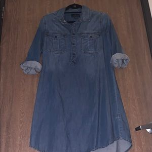 Long Sleeve Denim Lucky Brand Dress